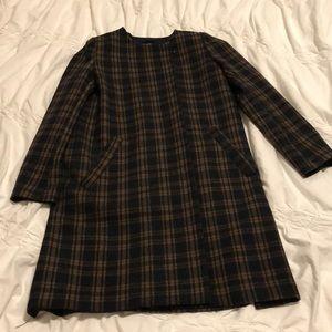 H&M black and tan coat sz 6. Excellent!